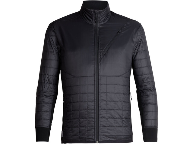 Icebreaker Helix Giacca a maniche lunghe con zip Uomo, black/jet heather